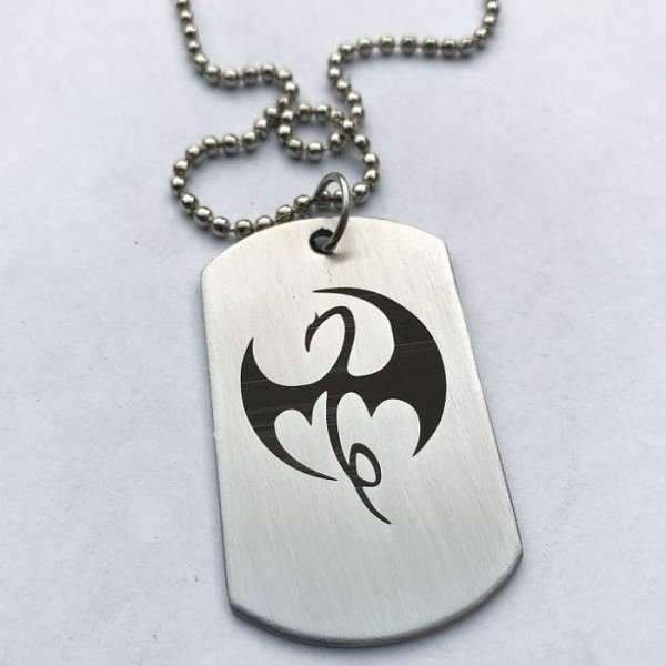 Marvels Iron Fist Stainless Steel Tag Pendant