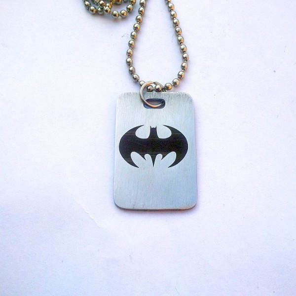 Batman Tag Necklace- Stainless Steel