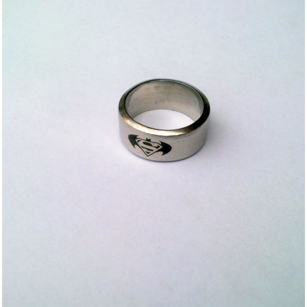Batman - Superman Stainless Steel Ring for Him