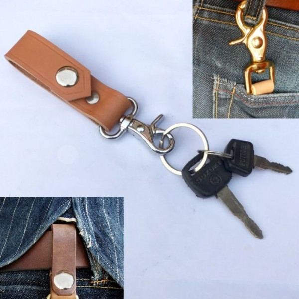 Leather Belt Loop Key Holder