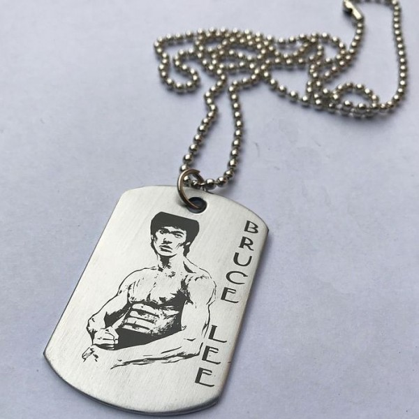 Bruce Lee - Stainless Steel Tag Pendant