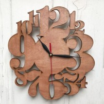 Creative Digits Wall Clock - Plywood