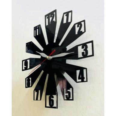 Black Acrylic Digit Wall Clock