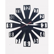 Black Acrylic Digit Wall Clock