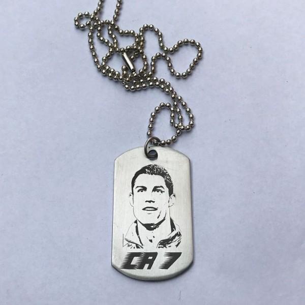 Cristiano Ronaldo Tag Pendant Stainless Steel