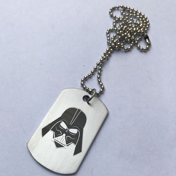 Darth Vader Stainless Steel Tag Pendant