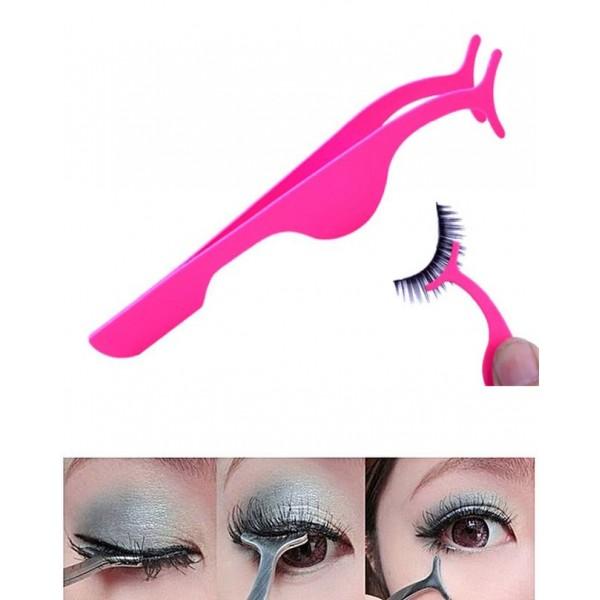 False Eyelashes Auxiliary Clip Tweezers - Pink