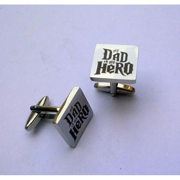 My Dad is my Hero Stainless Steel Cuff-links for Men