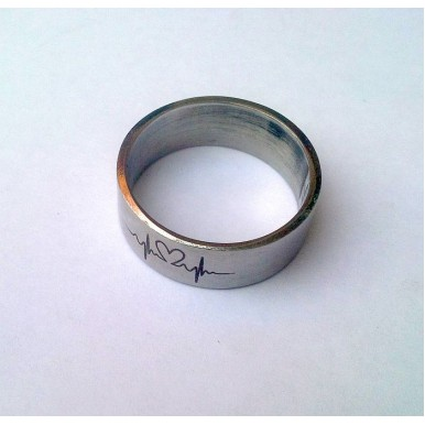 Stainless Steel Heartbeat Ring