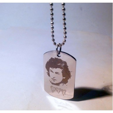 Stainless Steel Tag with Imran Khan's sketch