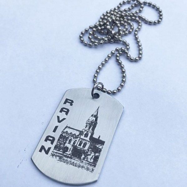 Ravian with Govt College Lahore - Tag Pendant