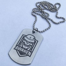 Awaken Military Tag Pendant with Ball Chain