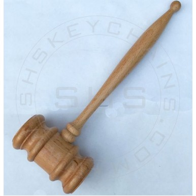 Customised Hand Crafted Wooden Gavel Gift for Law Professionals
