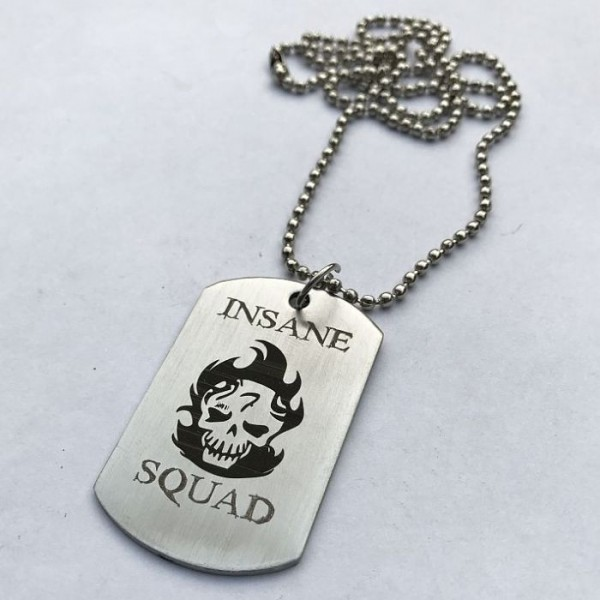 Insane Squad Stainless Steel Tag Pendant
