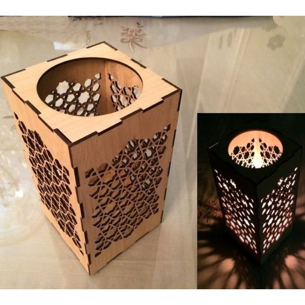 Laser Cut Candle Holder - Plywood