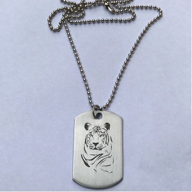 Lion Head Tag pendant Stainless Steel