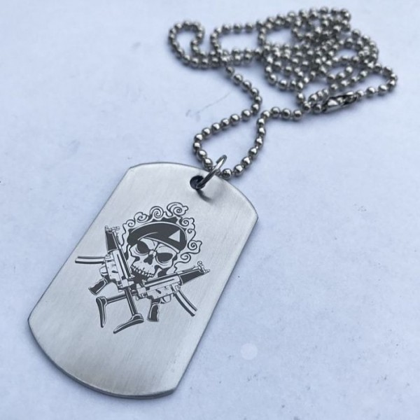 Mitiary Army Stainless Steel Tag Pendant with Ball Chain