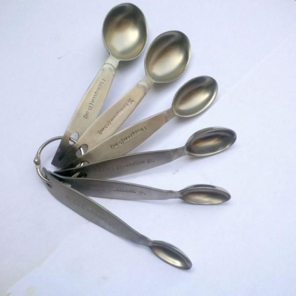 Stainless Steel Measuring Spoon Set of 6 spoons