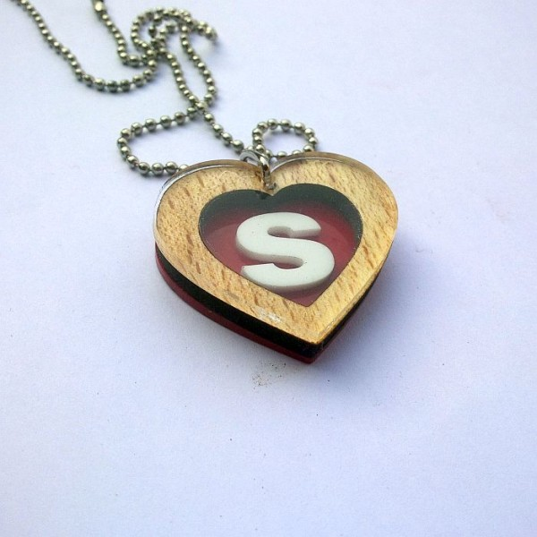 Personalised Heart Pendant with Initials