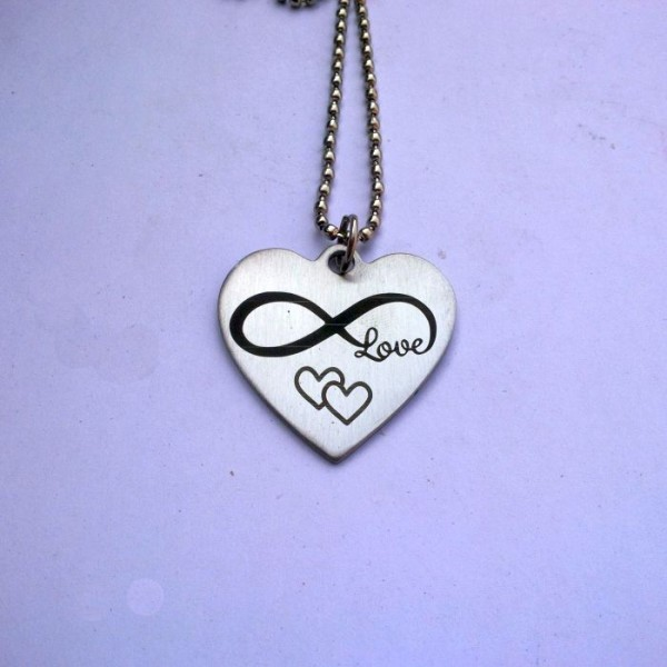 Stainless Steel Heart Pendant -  Infinity and Joined Hearts