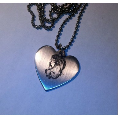 Heart Pendant with your Photo Engraved