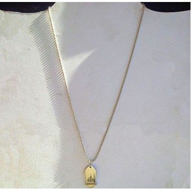 Stainless Steel Nalain Pendant with Beaded Chain