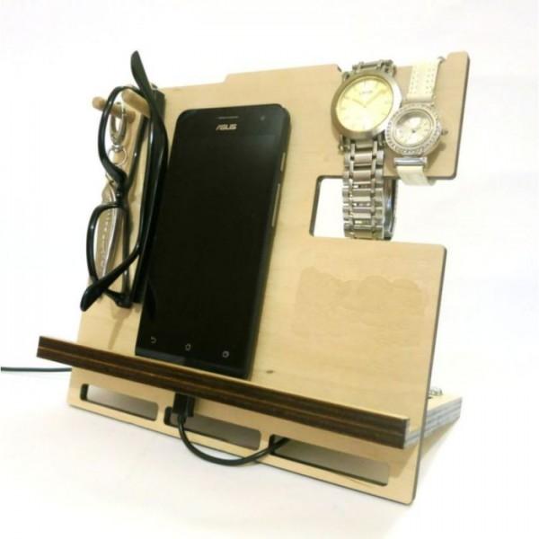 Laser Cut Wooden Desk Organiser