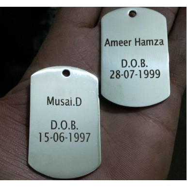 Stainless Steel Dog Tag with your Personal Name and Text