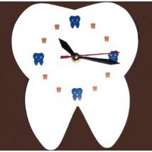 Dental Theme Tooth Shaped Acrylic Wall Clock