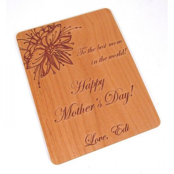 Mother's Day Wooden Greeting Card