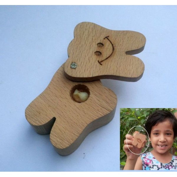 Tooth Fairy Wooden box for Kids to save loose tooth