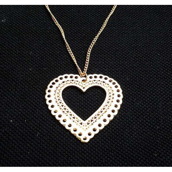 Heart Pendant with Long Chain