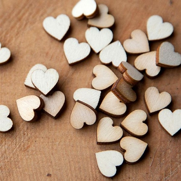 Laser Cut Wooden Hearts Small-Pack of 50 (1 inch size heart)