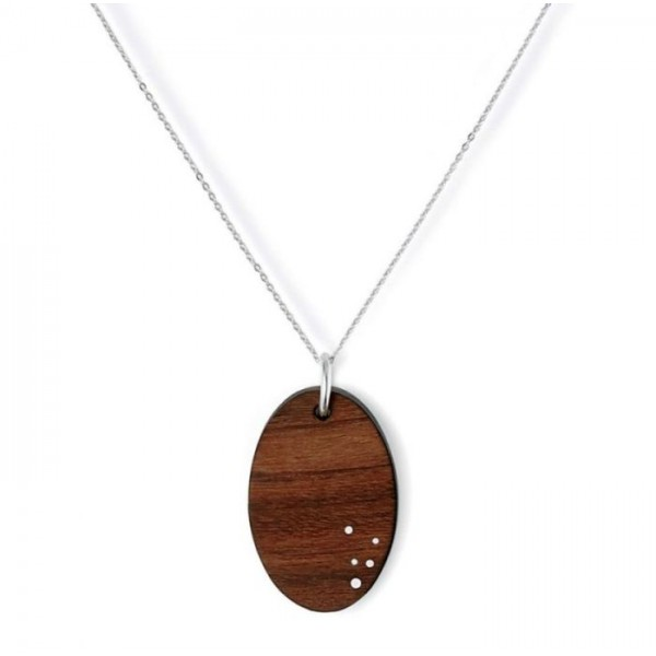 Solid Wood Wooden Eclipse Pendant