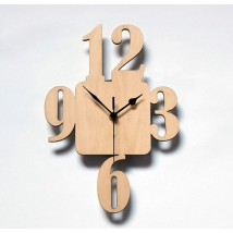 Modern Digits Wall Clock