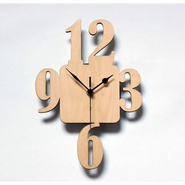 Modern Digits Wall Clock