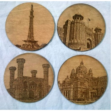 Lahore Theme Coasters with Historical Buildings