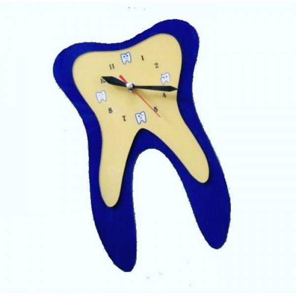 Tooth Shaped Clock for Dental Offices and Clinics