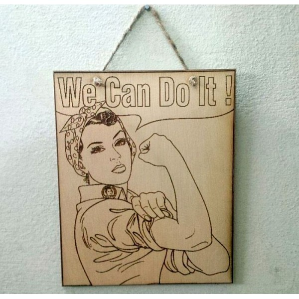 We Can Do it! Women Motivational Wooden Wall Plaque