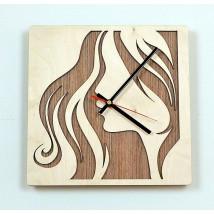 Modern Girl Wooden Wall Clock