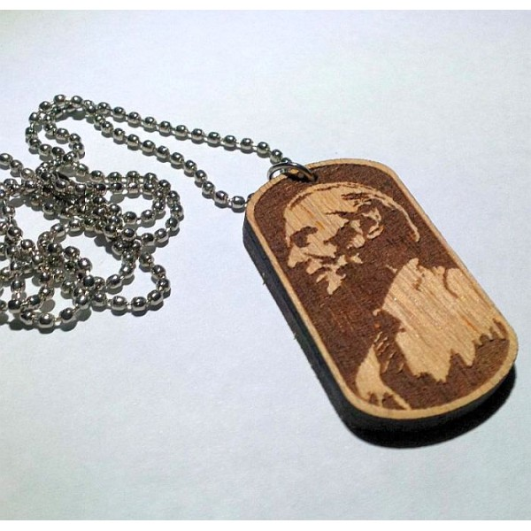 Quaid's Image Wooden Tag with Ball Chain