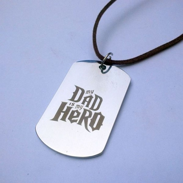 My Dad is my Hero Necklace