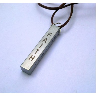 Personalized Silver Bar Pendant for Men