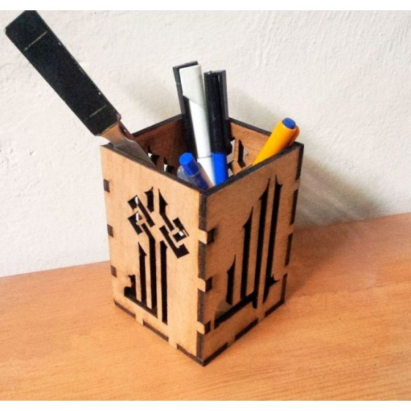 Wooden Pen Holder with