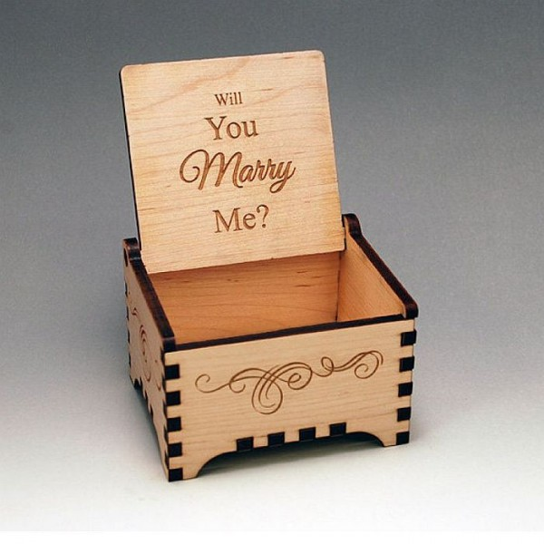 Personalised Laser Cut Wooden Gift Box