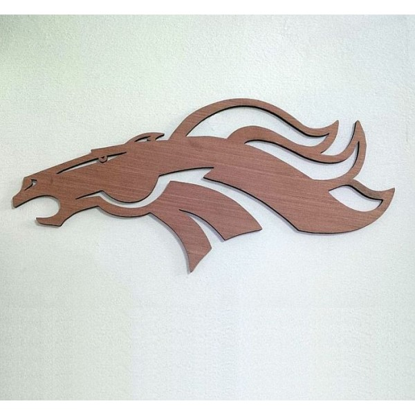 Laser Cut Wild Horse Head Wooden Wall Decor