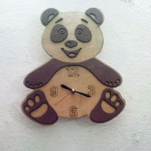 Cute Panda Shaped Wall Clock for Kids Room
