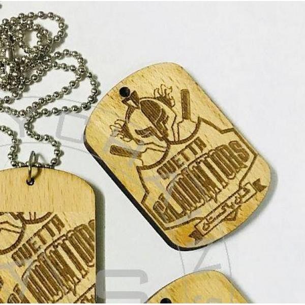 PSL Themed Quetta Gladiators-Laser engraved Wooden Pendant