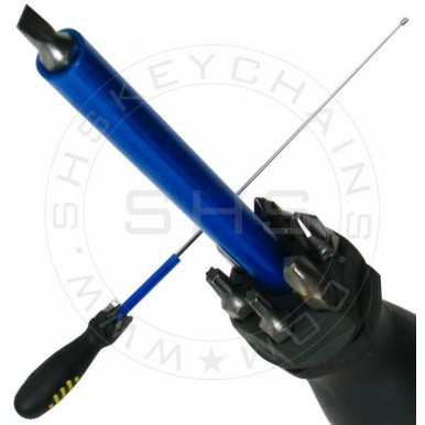 8-in-1 Multipurpose Screwdriver with Bits and Telescopic Magnet