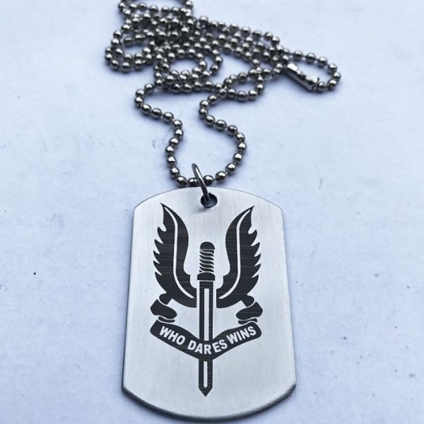 Who Dares Wins Sword - Stainless steel Tag Pendant